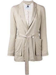 пиджак с поясом Blumarine