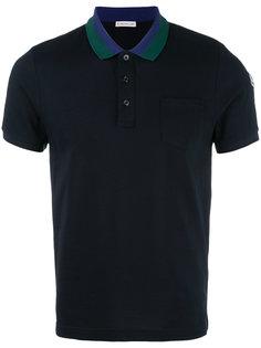 рубашка-поло с воротником в полоску Moncler