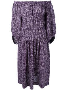 платье шифт с открытыми плечами  Sonia Rykiel
