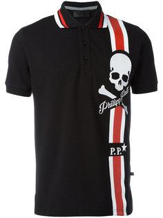 футболка-поло с принтом черепа Philipp Plein