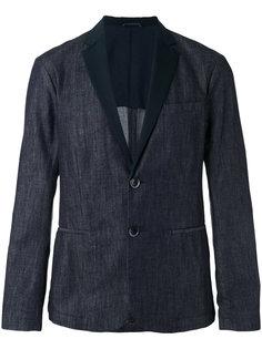 джинсовый пиджак с контрастной отделкой Emporio Armani
