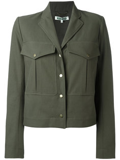 укороченный пиджак милитари Kenzo
