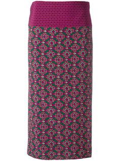 юбка миди с геометрическим принтом Aspesi