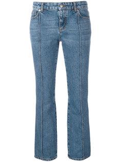 укороченные расклешенные джинсы Alexander McQueen