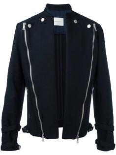 куртка без застежек с диагональными молниями  Pierre Balmain