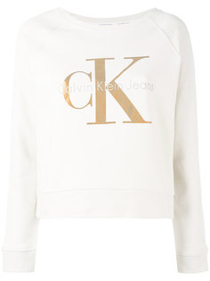 толстовка с логотипом металлик Calvin Klein Jeans