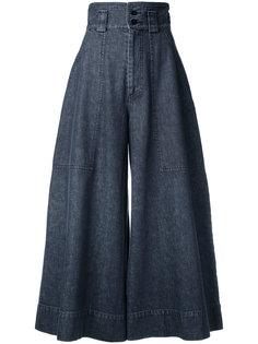 широкие брюки с завышенной талией  Mikio Sakabe
