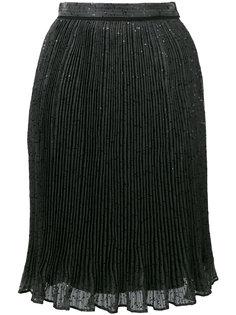 плиссированная юбка с пайетками Carven