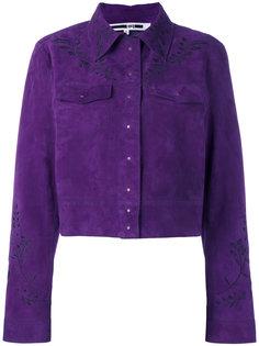 замшевая куртка с вышивкой McQ Alexander McQueen