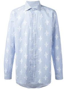 рубашка в полоску с вышивкой Etro