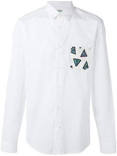 рубашка с принтом на кармане Kenzo