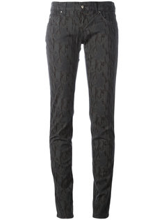 джинсы скинни со змеиным принтом  Armani Jeans