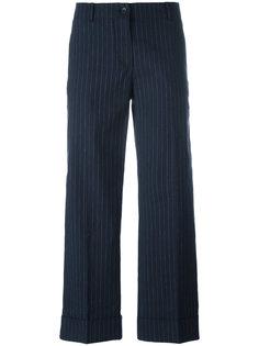 укороченные брюки в полоску Alberto Biani