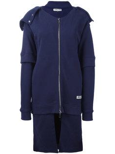 пальто на молнии с капюшоном Aalto