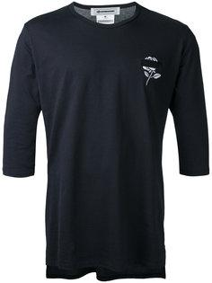 длинная футболка с цветочной вышивкой Anrealage