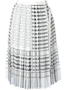 юбка с принтом звезд Sacai