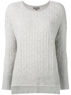 cashmere oversize box cable jumper N.Peal