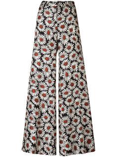 широкие брюки с цветочным принтом Alberto Biani