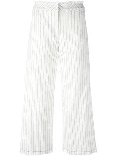 брюки в тонкую полоску  T By Alexander Wang
