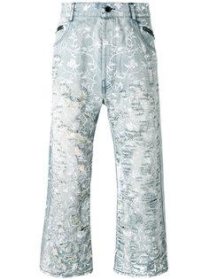 рваные джинсы с цветочным узором Unconditional