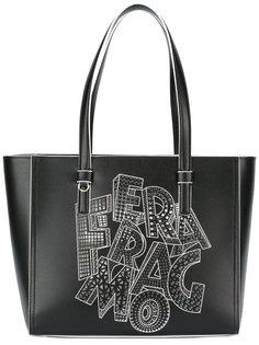 сумка-тоут с принтом Salvatore Ferragamo