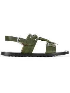сандалии с ремешками Pollini