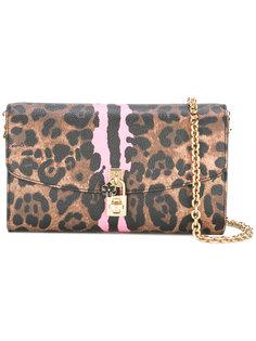 клатч с леопардовым узором Dolce & Gabbana