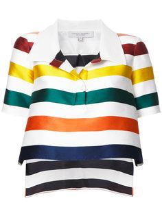 укороченная блузка в полоску Carolina Herrera
