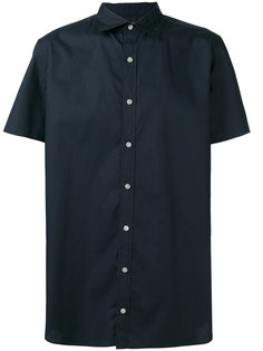 рубашка с короткими рукавами и вышивкой на воротнике  Kolor