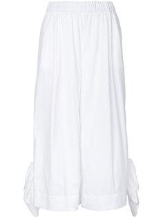 укороченные широкие брюки MSGM