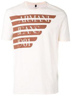 футболка с принтом с логотипом Armani Jeans