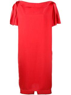 платье со складками на рукавах Gianluca Capannolo