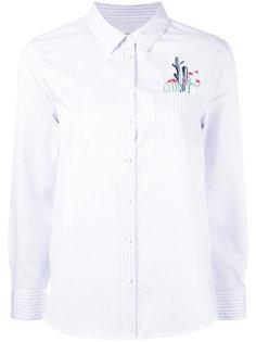 рубашка в полоску с вышивкой Equipment