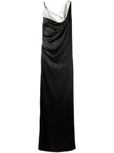 вечернее платье с вырезом-хомутом Lanvin