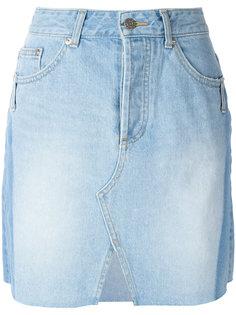 джинсовая юбка с разрезом спереди  Steve J & Yoni P