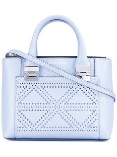 сумка через плечо с треугольными лазерными прорезями Emporio Armani