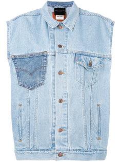 джинсовая куртка без рукавов Erika Cavallini