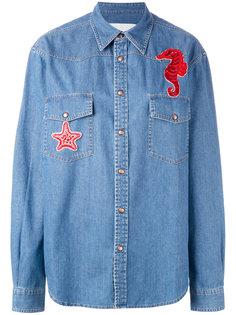 джинсовая рубашка с морским коньком  Ava Adore