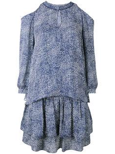 ярусное платье с открытыми плечами  Derek Lam 10 Crosby
