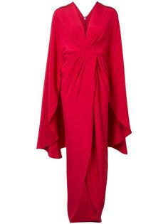 платье-кимоно с запахом Christian Siriano