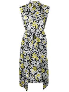 платье с цветочным принтом без рукавов Christian Wijnants