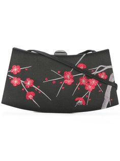 клатч с вышитым цветочным узором Giorgio Armani Vintage