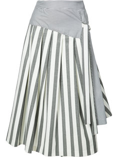 расклешенная юбка в полоску Christian Siriano