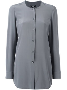 блузка на пуговицах без воротника Salvatore Ferragamo