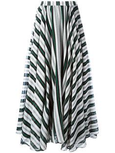 А-образная юбка макси в полоску  MSGM