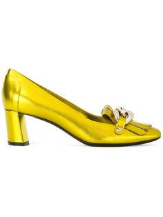 декорированные туфли с бахромой Casadei