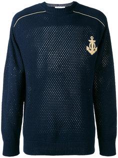 свитер ажурной вязки с вышивкой Pierre Balmain