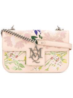 сумка на плечо с вышитыми цветами Alexander McQueen