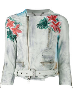 байкерская куртка с цветочным рисунком Pihakapi
