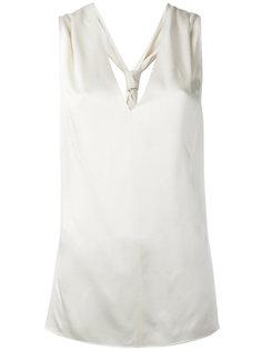 блузка без рукавов со спинкой-рейсер Lanvin